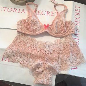 Victoria's Secret Crochet Lace Set